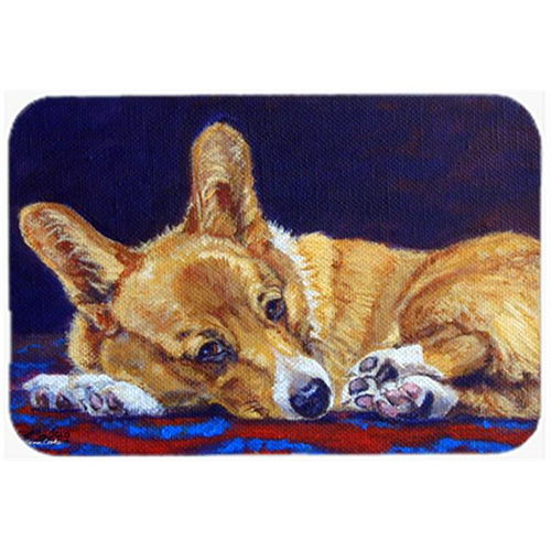 Carolines Treasures 7320MP Corgi Blue Lonesome Mouse Pad Hot Pad & Trivet