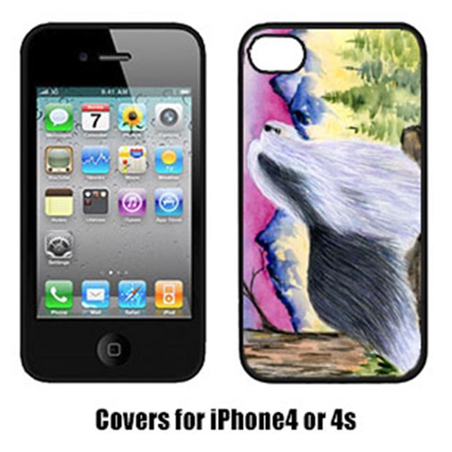 Carolines Treasures SS8338IP4 Bearded Collie Cell Phone cover IPhone 4