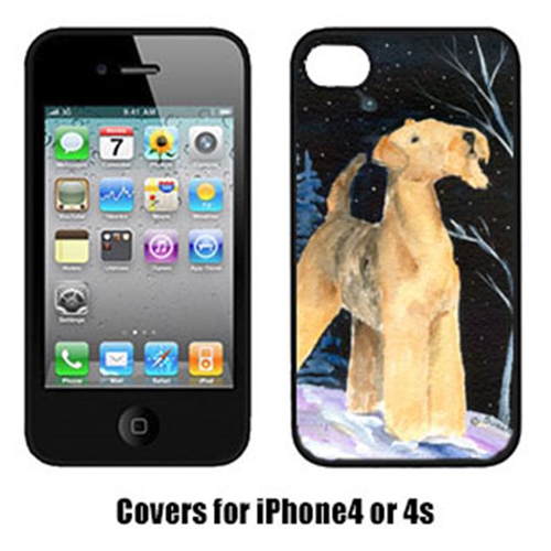 Carolines Treasures SS8361IP4 Starry Night Airedale Cell Phone cover IPhone 4