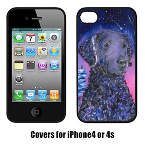 Carolines Treasures SS8354IP4 Starry Night Curly Coated Retriever Cell Phone cover IPhone 4