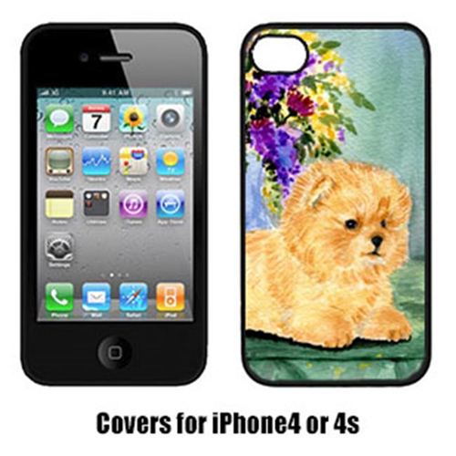 Carolines Treasures SS8302IP4 Pomeranian Cell Phone cover IPhone 4