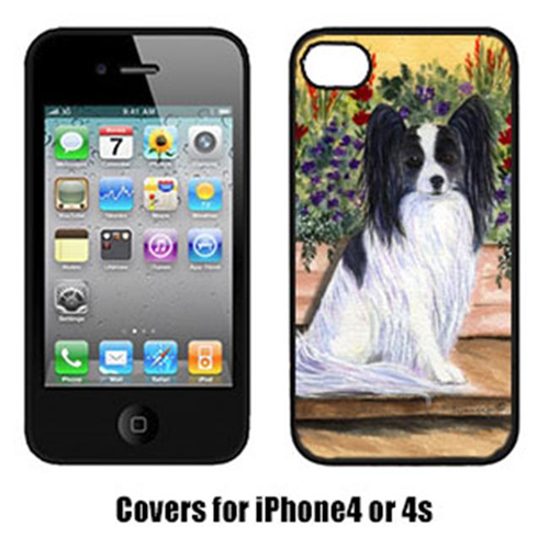 Carolines Treasures SS8210IP4 Papillon Cell Phone cover IPhone 4