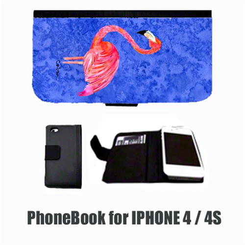 Carolines Treasures 8685-NBIP4 Bird Flamingo Cell Phonebook Cell Phone case Cover for IPHONE 4 or 4S