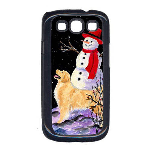 Carolines Treasures SS8579GALAXYSIII Golden Retriever With Snowman In Red Hat Galaxy S111 Cell Phone Cover