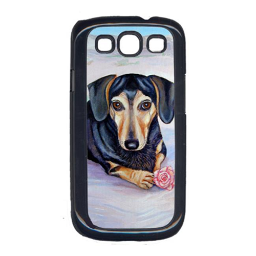 Carolines Treasures 7076GALAXYSIII Black And Cream Dachshund Galaxy S111 Cell Phone Cover