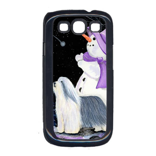 Carolines Treasures SS8947GALAXYSIII Snowman with Bearded Collie Cell Phone Cover Galaxy S111