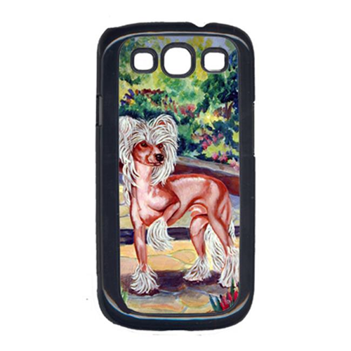 Carolines Treasures 7021GALAXYSIII Chinese Crested on the patio Cell Phone Cover Galaxy S111