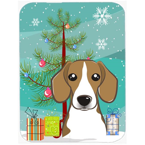 Carolines Treasures BB1611MP Christmas Tree And Beagle Mouse Pad Hot Pad & Trivet