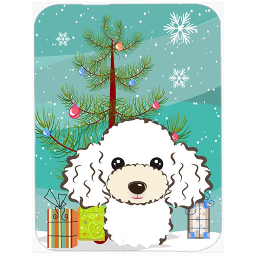 Carolines Treasures BB1629MP Christmas Tree And White Poodle Mouse Pad Hot Pad & Trivet