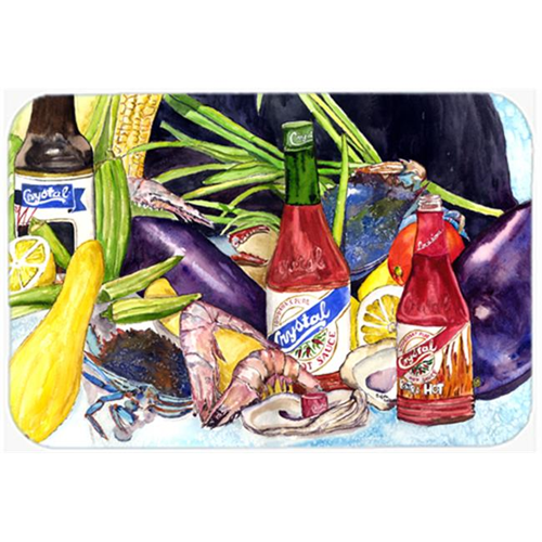 Carolines Treasures 8637MP Crystal Hot Sauce With Seafood Mouse Pad Hot Pad & Trivet
