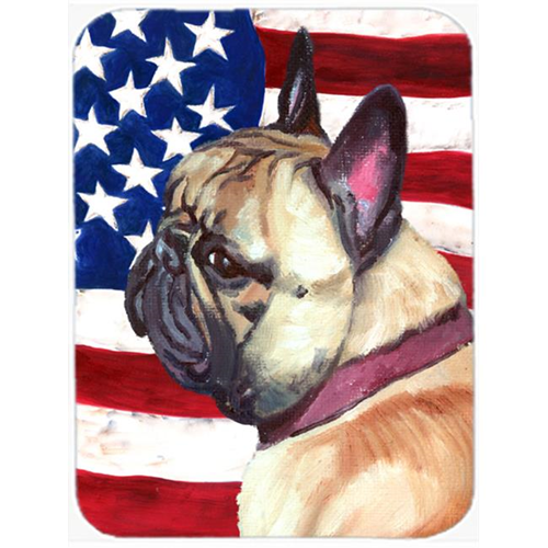 Carolines Treasures LH9545MP French Bulldog Frenchie Usa Patriotic American Flag Mouse Pad Hot Pad & Trivet