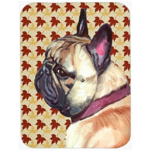 Carolines Treasures LH9559MP French Bulldog Frenchie Fall Leaves Mouse Pad Hot Pad & Trivet