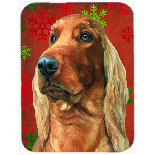 Carolines Treasures LH9576MP Irish Setter Red Snowflakes Holiday Christmas Mouse Pad Hot Pad & Trivet