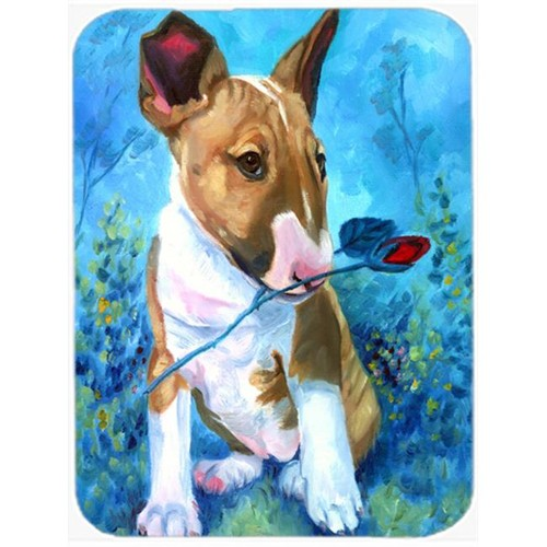 Carolines Treasures 7339MP Bull Terrier Rose For Mom Mouse Pad Hot Pad & Trivet
