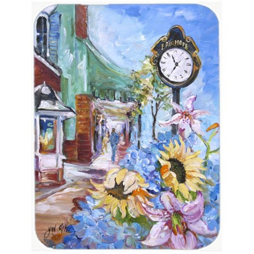 Carolines Treasures JMK1187MP Fairhope Clock Mouse Pad Hot Pad & Trivet