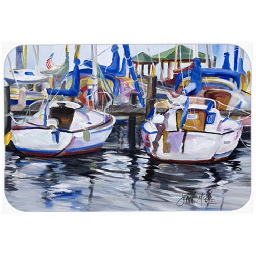 Carolines Treasures JMK1054MP Sailboats Mouse Pad Hot Pad & Trivet