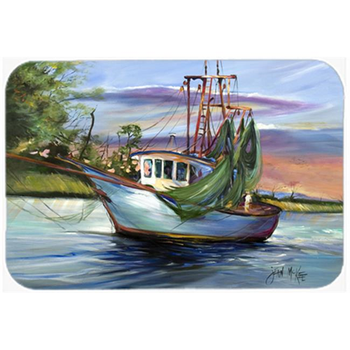 Carolines Treasures JMK1059MP Jeannie Shrimp Boat Mouse Pad Hot Pad & Trivet