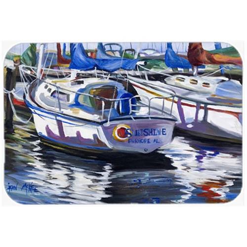 Carolines Treasures JMK1081MP Sunshine Sailboat Mouse Pad Hot Pad & Trivet