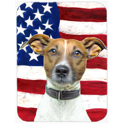 Carolines Treasures KJ1155MP USA American Flag with Jack Russell Terrier Mouse Pad Hot Pad or Trivet