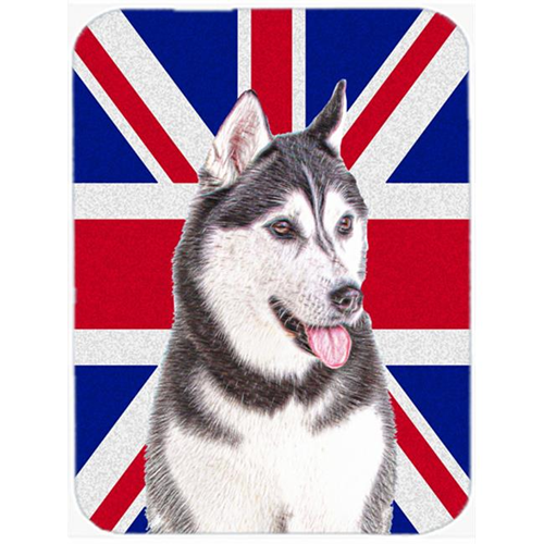 Carolines Treasures KJ1161MP Alaskan Malamute with English Union Jack British Flag Mouse Pad Hot Pad or Trivet