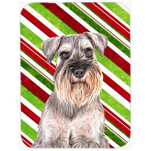 Carolines Treasures KJ1172MP Candy Cane Holiday Christmas Schnauzer Mouse Pad Hot Pad or Trivet