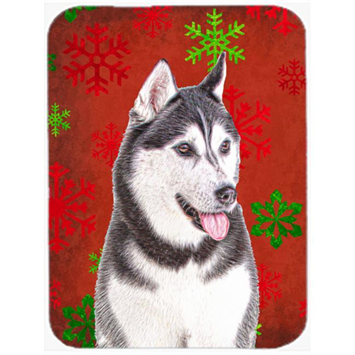 Carolines Treasures KJ1182MP Red Snowflakes Holiday Christmas Alaskan Malamute Mouse Pad Hot Pad or Trivet