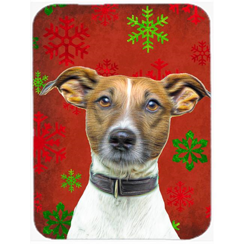 Carolines Treasures KJ1183MP Red Snowflakes Holiday Christmas Jack Russell Terrier Mouse Pad Hot Pad or Trivet