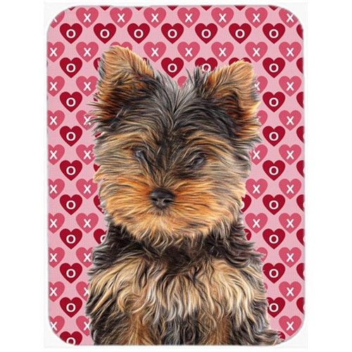 Carolines Treasures KJ1195MP Hearts Love and Valentines Day Yorkie Puppy & Yorkshire Terrier Mouse Pad Hot Pad or Trivet