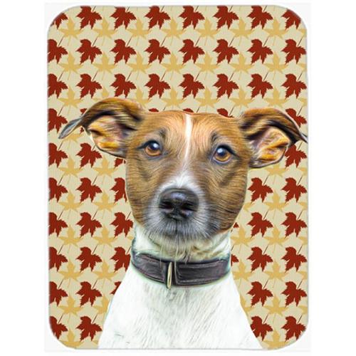 Carolines Treasures KJ1204MP Fall Leaves Jack Russell Terrier Mouse Pad Hot Pad or Trivet