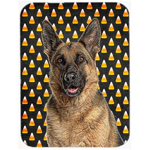Carolines Treasures KJ1215MP Candy Corn Halloween German Shepherd Mouse Pad Hot Pad or Trivet