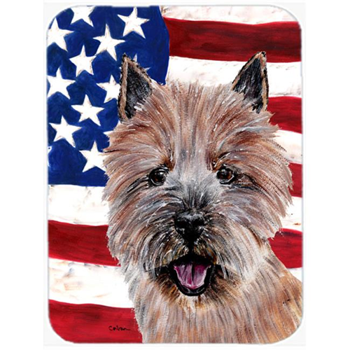 Carolines Treasures SC9638MP Norwich Terrier With American Flag Usa Mouse Pad Hot Pad Or Trivet 7.75 x 9.25 In.
