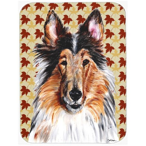 Carolines Treasures SC9670MP Collie Fall Leaves Mouse Pad Hot Pad Or Trivet 7.75 x 9.25 In.