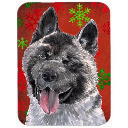 Carolines Treasures SC9482MP 7.75 x 9.25 In. Akita Red Snowflakes Holiday Christmas Mouse Pad Hot Pad Or Trivet