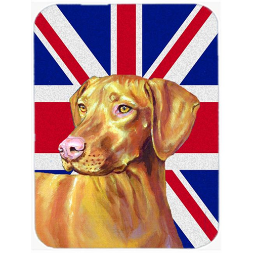 Carolines Treasures LH9477MP 7.75 x 9.25 In. Vizsla With English Union Jack British Flag Mouse Pad Hot Pad Or Trivet