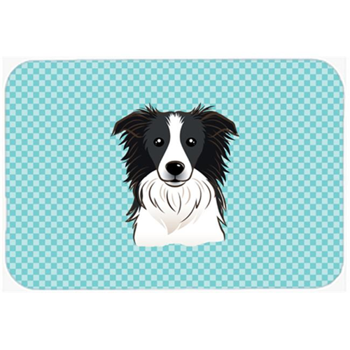 Carolines Treasures BB1179MP Checkerboard Blue Border Collie Mouse Pad Hot Pad Or Trivet 7.75 x 9.25 In.