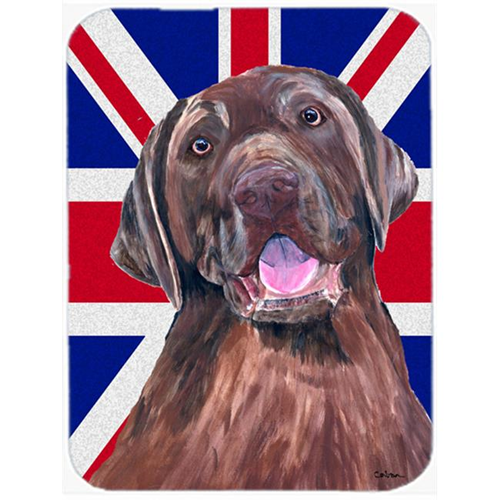 Carolines Treasures SC9841MP 7.75 x 9.25 In. Labrador With English Union Jack British Flag Mouse Pad Hot Pad Or Trivet