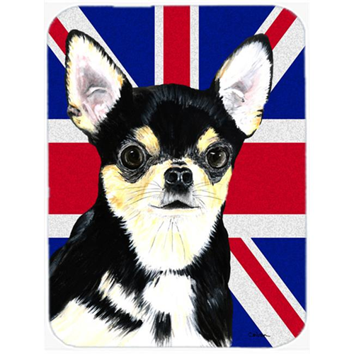 Carolines Treasures SC9856MP 7.75 x 9.25 In. Chihuahua With English Union Jack British Flag Mouse Pad Hot Pad Or Trivet