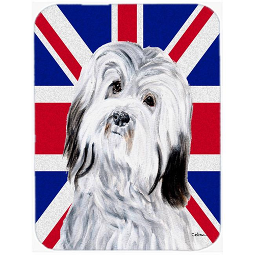 Carolines Treasures SC9874MP 7.75 x 9.25 In. Havanese With English Union Jack British Flag Mouse Pad Hot Pad Or Trivet