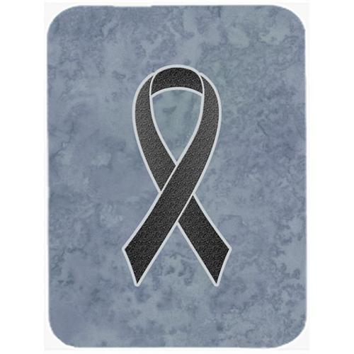 Carolines Treasures AN1216MP Black Ribbon For Melanoma Cancer Awareness Mouse Pad Hot Pad Or Trivet 7.75 x 9.25 In.