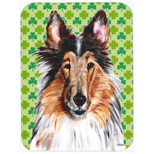 Carolines Treasures SC9718MP Collie Lucky Shamrock St. Patricks Day Mouse Pad Hot Pad Or Trivet 7.75 x 9.25 In.