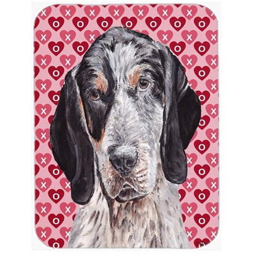 Carolines Treasures SC9697MP Blue Tick Coonhound Hearts And Love Mouse Pad Hot Pad Or Trivet 7.75 x 9.25 In.
