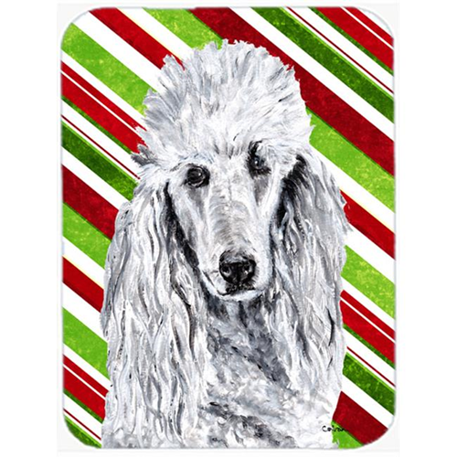 Carolines Treasures SC9799MP White Standard Poodle Candy Cane Christmas Mouse Pad Hot Pad Or Trivet 7.75 x 9.25 In.