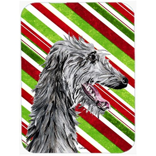 Carolines Treasures SC9813MP Scottish Deerhound Candy Cane Christmas Mouse Pad Hot Pad Or Trivet 7.75 x 9.25 In.