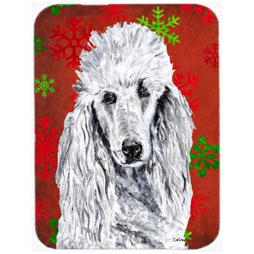 Carolines Treasures SC9751MP White Standard Poodle Red Snowflakes Holiday Mouse Pad Hot Pad Or Trivet 7.75 x 9.25 In.