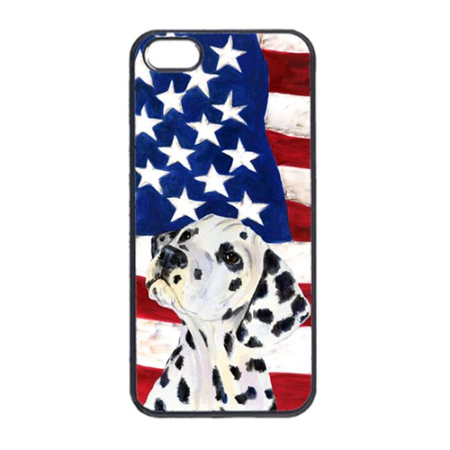 Carolines Treasures SS4018IP4 USA American Flag With Dalmatian Iphone 4 Cover