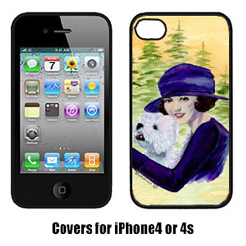 Carolines Treasures SS8532IP4 Woman Driving With Her Westie Iphone4 Cover