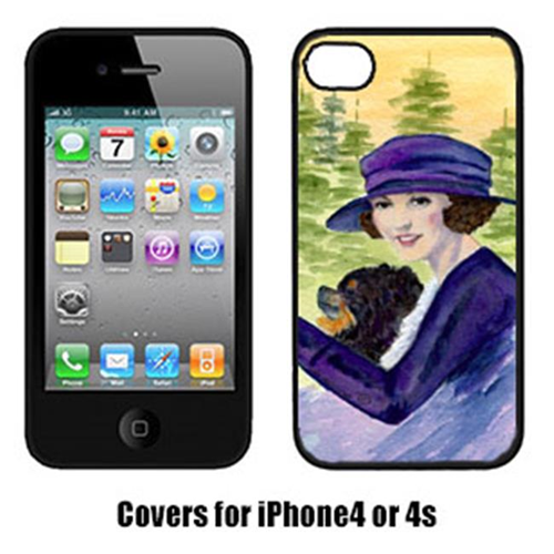 Carolines Treasures SS8538IP4 Lady Driving With Her Pomeranian Iphone4 Cover