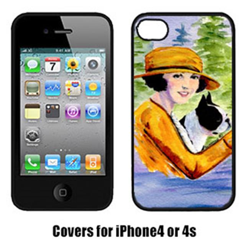 Carolines Treasures SS8534IP4 Woman Driving With Her Boston Terrier Iphone4 Cover