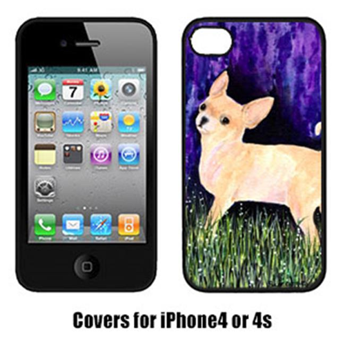 Carolines Treasures SS8514IP4 Starry Night Chihuahua Iphone4 Cover