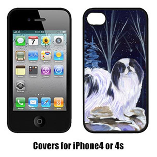 Carolines Treasures SS8374IP4 Starry Night Japanese Chin Cell Phone cover IPhone 4